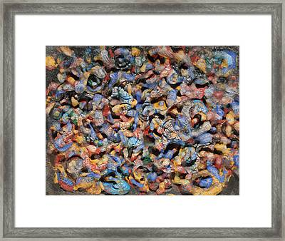 Framed Print featuring the mixed media Icy Abstract 1 by Sami Tiainen