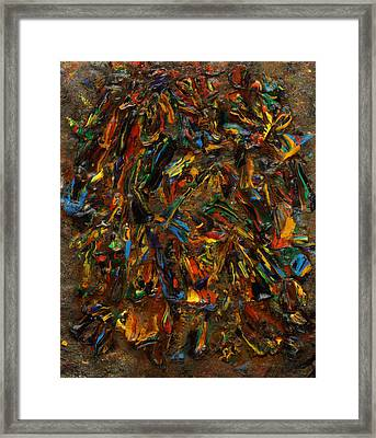 Framed Print featuring the mixed media Icy Abstract 2 by Sami Tiainen