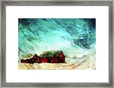 Icy Barns Framed Print by Andrea Barbieri