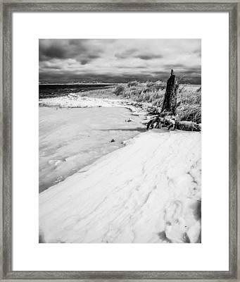 Icy Beach Framed Print