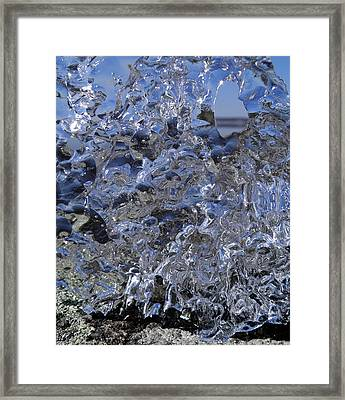 Framed Print featuring the photograph Icy Beach View 1 by Sami Tiainen