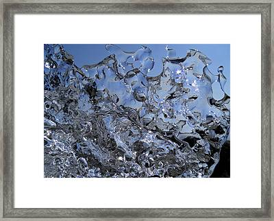 Framed Print featuring the photograph Icy Beach View 2 by Sami Tiainen