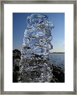 Framed Print featuring the photograph Icy Beach View 3 by Sami Tiainen