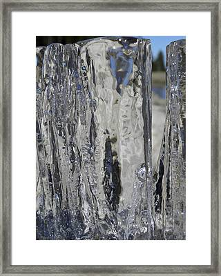 Framed Print featuring the photograph Icy Beach View 4 by Sami Tiainen