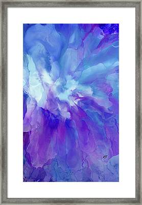 Icy Bloom Framed Print