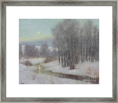 Icy Evening Framed Print