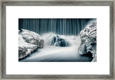 Icy Falls Framed Print by Keijo Savolainen