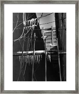 Icy Gates Framed Print by Jim Furrer