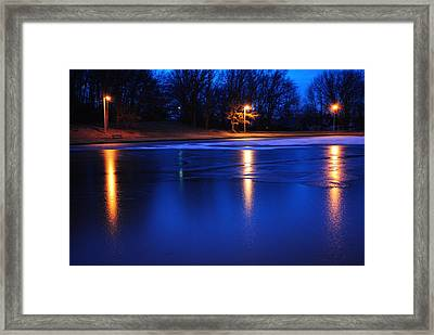 Icy Glow Framed Print by Frozen in Time Fine Art Photography