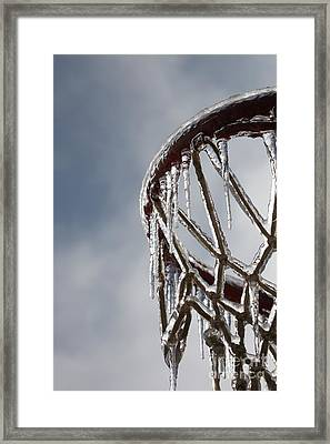 Icy Hoops Framed Print by Nadine Rippelmeyer