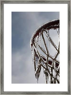 Icy Hoops Framed Print