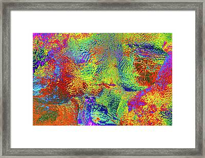 Framed Print featuring the photograph Icy Kaleidoscope by Tony Beck