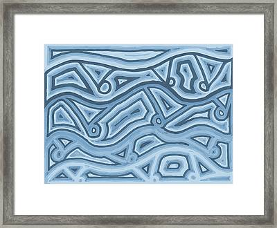 Framed Print featuring the drawing Icy Layers by Jill Lenzmeier