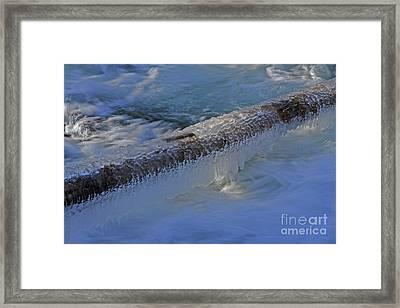 Icy Log Framed Print