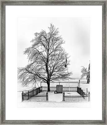 Icy Memories Bw Framed Print by Steve Harrington
