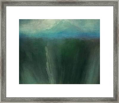 Icy Mountain Framed Print by Lonnie Christopher