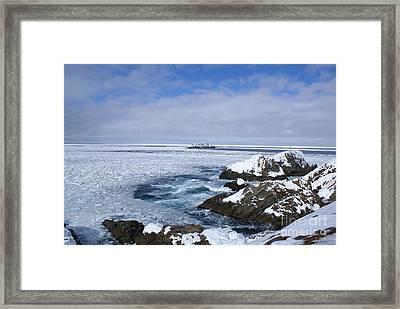 Icy Ocean Slush Framed Print by Annlynn Ward