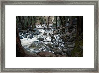 Icy River Below Bridalveil Yosemite California Framed Print