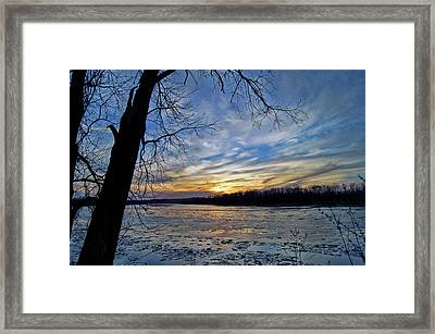 Framed Print featuring the photograph Icy River by Cricket Hackmann