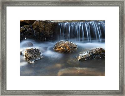 Framed Print featuring the photograph Icy Rocks On The Coxing Kill #1 by Jeff Severson