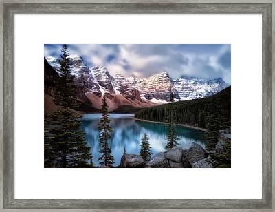 Icy Stillness Framed Print