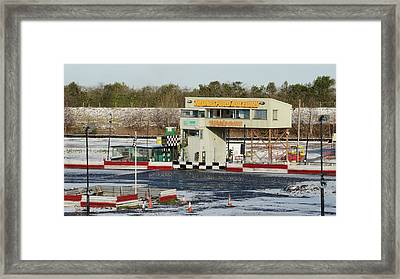 Icy Stock Car Track Framed Print