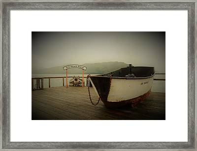 Icy Strait Point Boat Framed Print