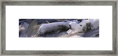Icy Stream Framed Print by David Bishop