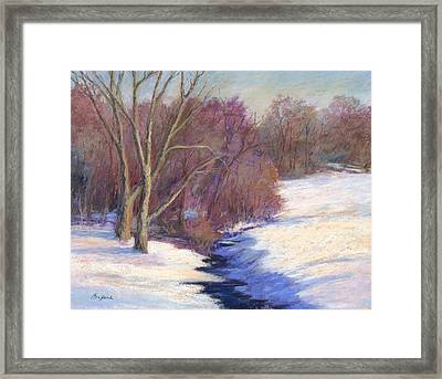 Icy Stream Framed Print by Vikki Bouffard