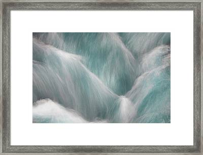 Icy Water Flow Abstract 1 Framed Print