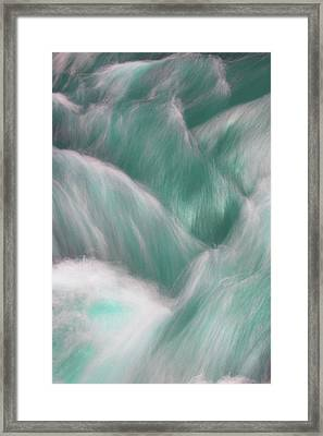 Icy Water Flow Abstract 2 Framed Print