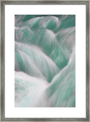 Icy Water Flow Abstract 3 Framed Print
