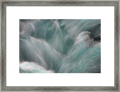 Icy Water Flow Abstract  Framed Print