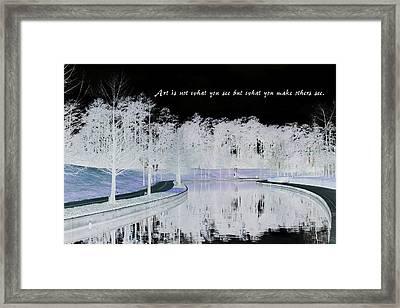 Icy Waterway Framed Print