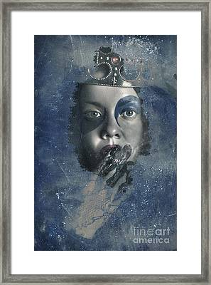 Icy Window Reflection. Wicked Queen Of Winter Framed Print