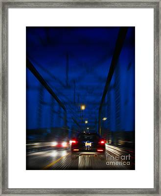 I'd Drive All Night Framed Print by Colleen Kammerer