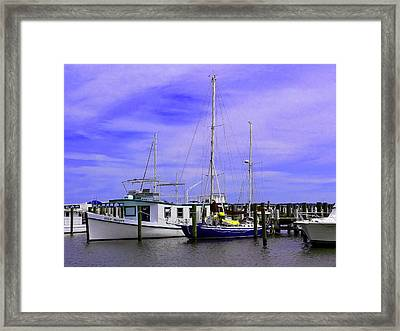 I Would Rather Be Sailing Framed Print