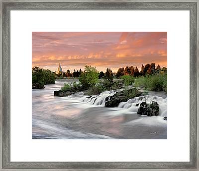 Idaho Falls Framed Print by Leland D Howard