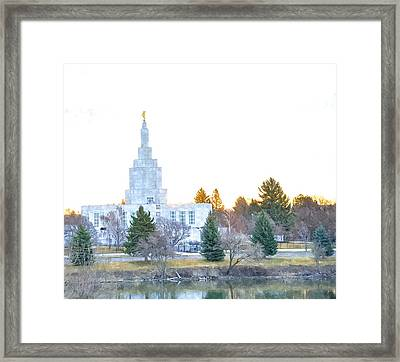 Idaho Falls Temple - 2015 Framed Print by Image Takers Photography LLC - Carol Haddon