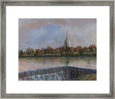 Idaho Falls Temple Framed Print by Jeff Brimley