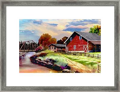 Idaho Homestead Framed Print by Ron Chambers