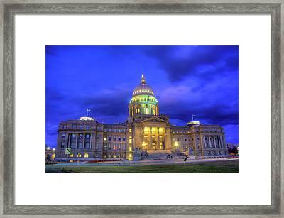 Idaho State Capital Framed Print