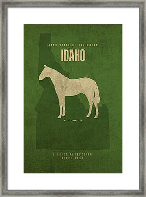 Idaho State Facts Minimalist Movie Poster Art Framed Print by Design Turnpike