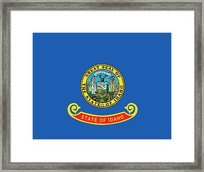 Idaho State Flag Framed Print by American School