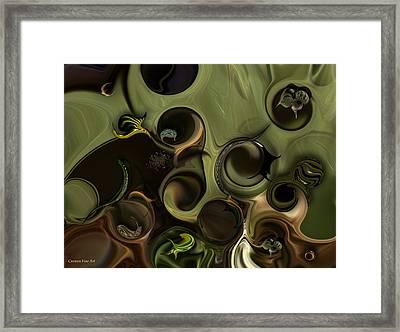 Framed Print featuring the digital art Idea And Intensity by Carmen Fine Art