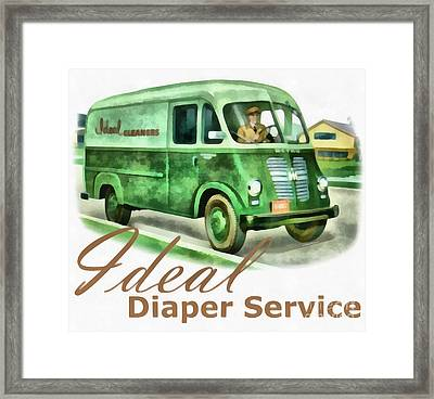 Ideal Diaper Service Painting Framed Print by Edward Fielding