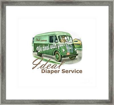 Ideal Diaper Service Tee Framed Print by Edward Fielding