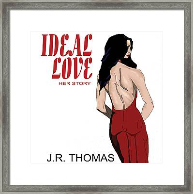 Framed Print featuring the digital art Ideal Love Book Cover by Jayvon Thomas