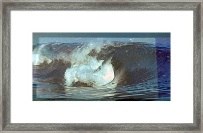 Ideal Surf Waves Photography And Digital Transformation Framed Print by Navin Joshi