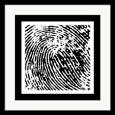 Fingerprints Digital Art Framed Prints